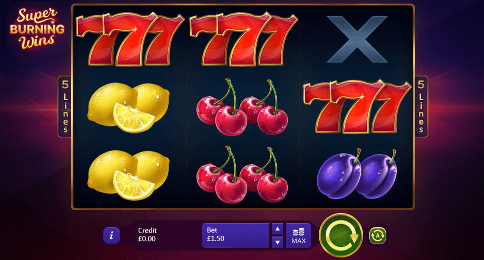 casino slots spins super burning
