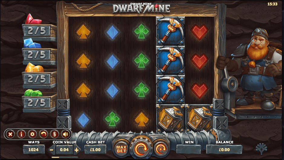 Dwarf Mine Casino gameplay