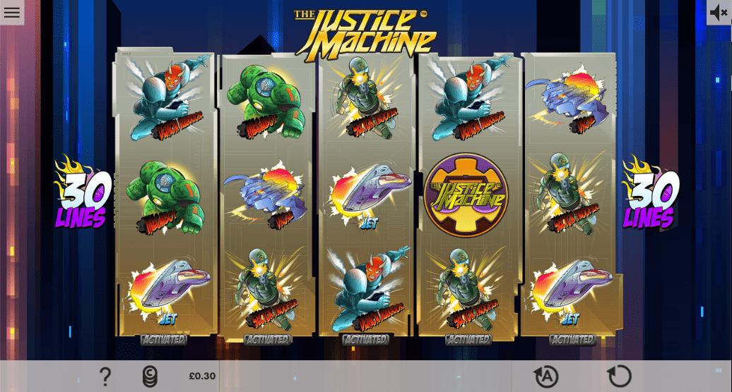 slots justice machine spins