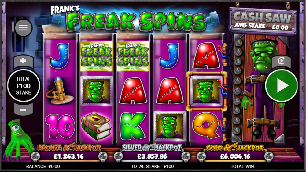 franks freak spins casino game online play