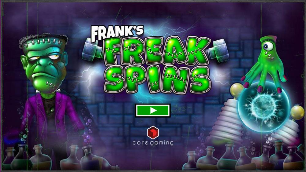 frank's freak spins logo casino game