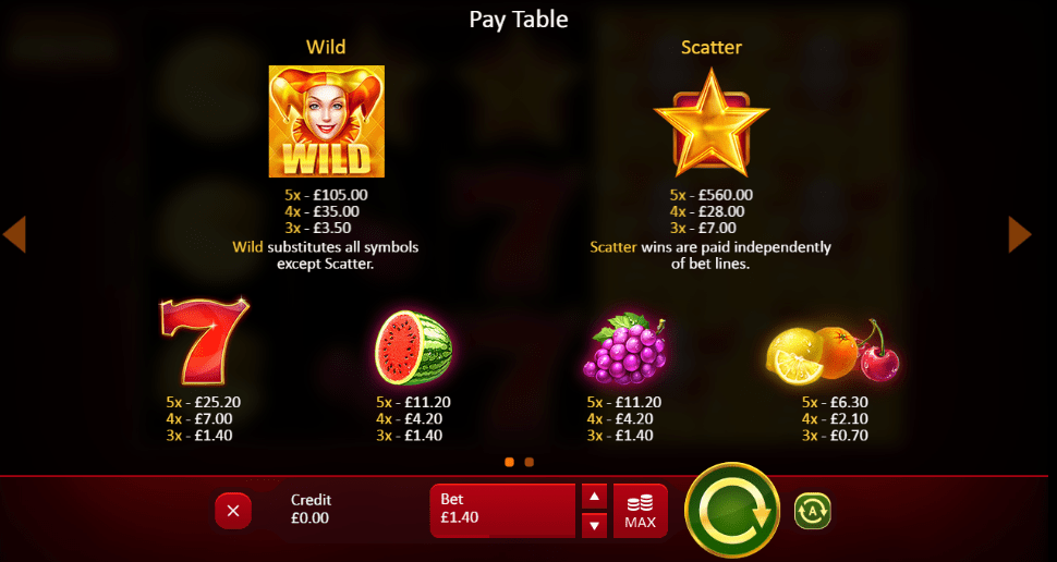 fruits jokers game slots