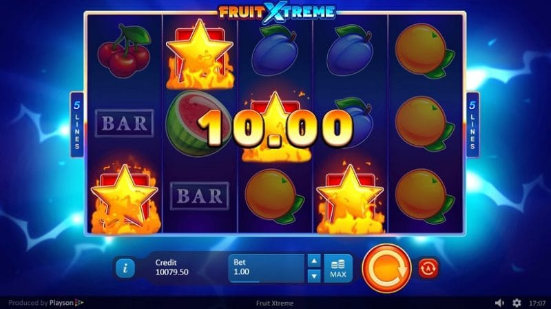 Fruit Xtreme: 5 Lines Free Slots