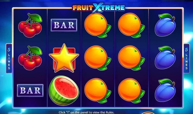 Fruit Xtreme: 5 Lines Game Play