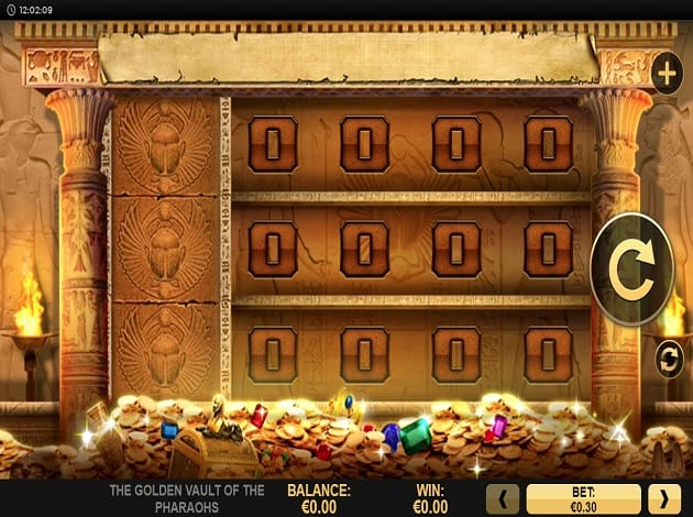 golden vault of the pharaohs reels gameplay