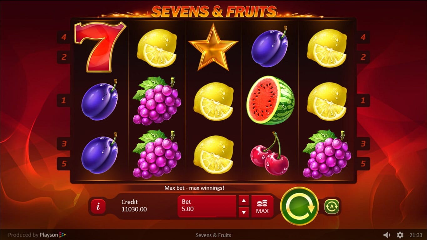 sevens and fruits casino