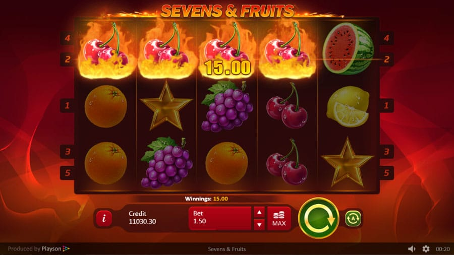 sevens and fruits play online