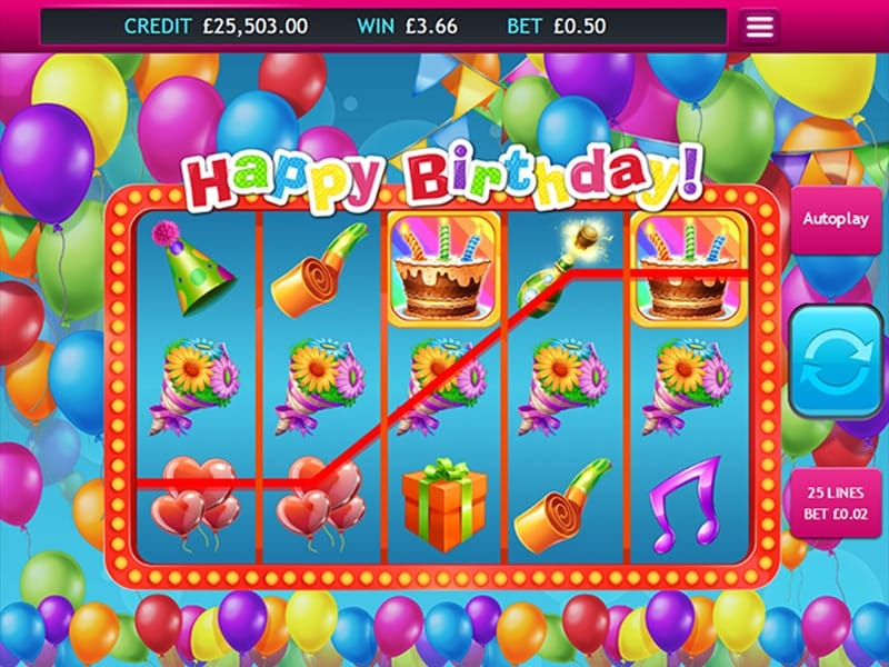 Happy Birthday Jackpot gameplay
