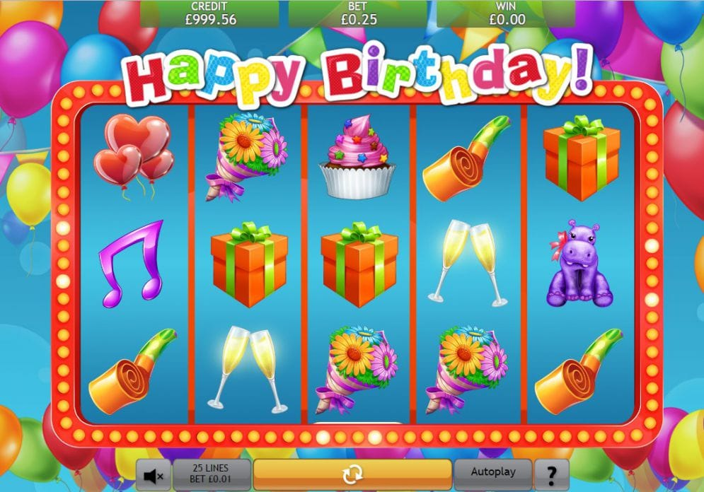 Happy Birthday Jackpot screenshot