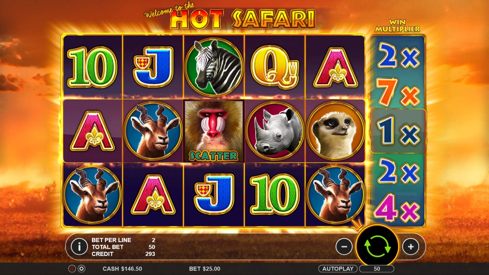 hot safari online slot jackpot