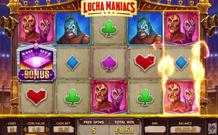 lucha maniacs online bets spins