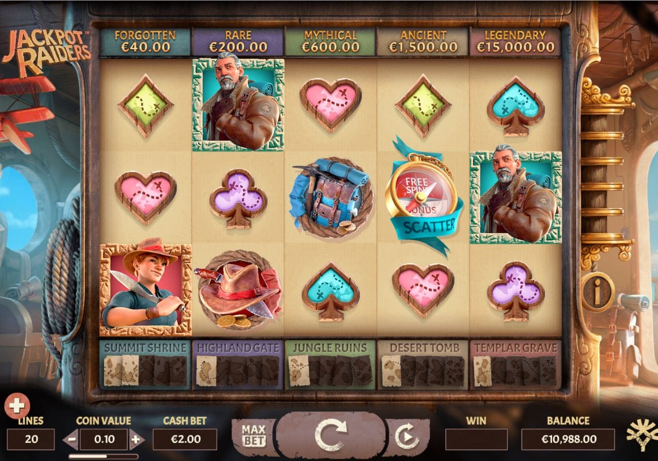 Jackpot Raider Casino Gameplay