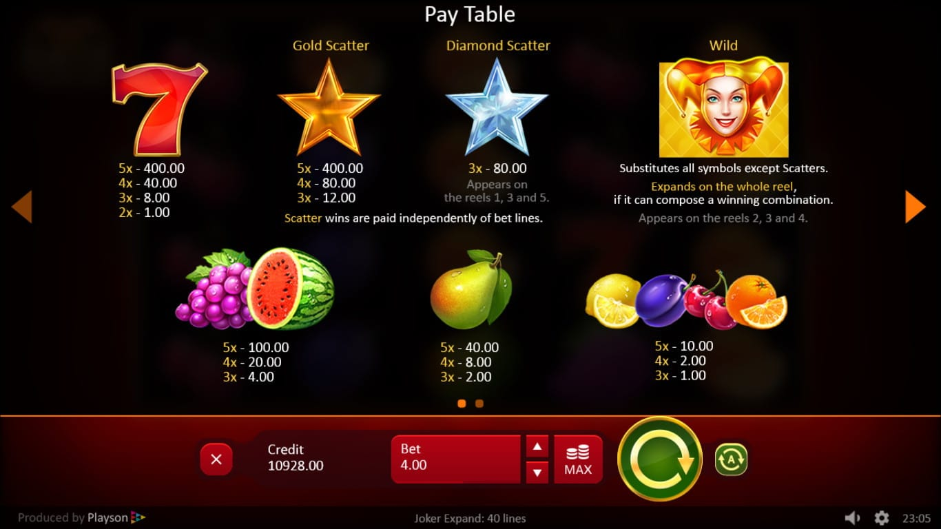 joker expand online casino 40 lines play now