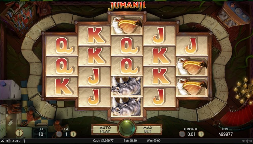 Jumanji Casino gameplay