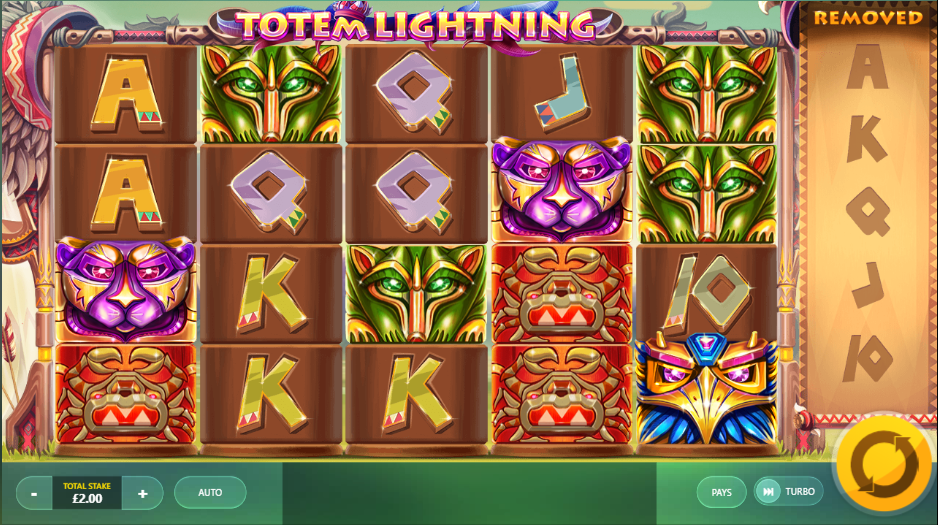 totem lightning game spins slots