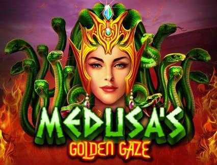Medusa's Golden Gaze Slot Logo