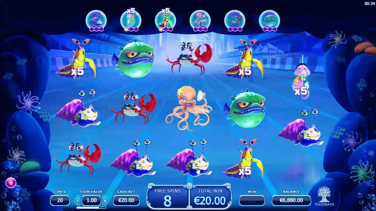 reef run game bets slots