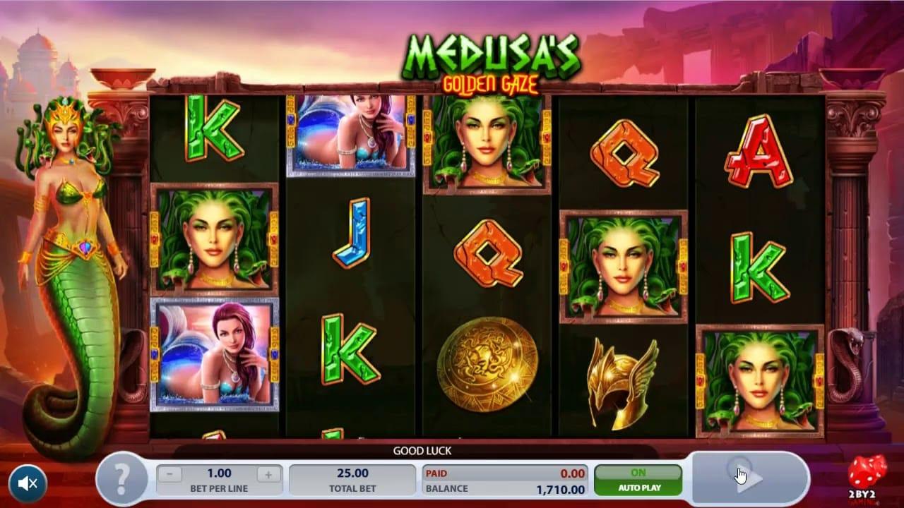 Madusa's Golden Gaze Casino Gameplay