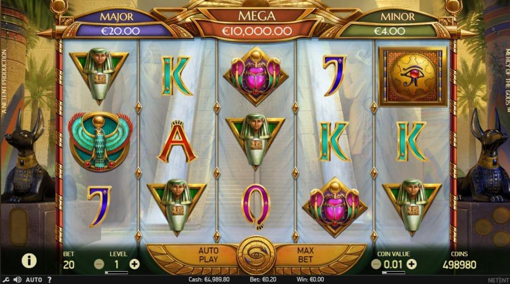 Mercy of the Gods Bingo Gameplay