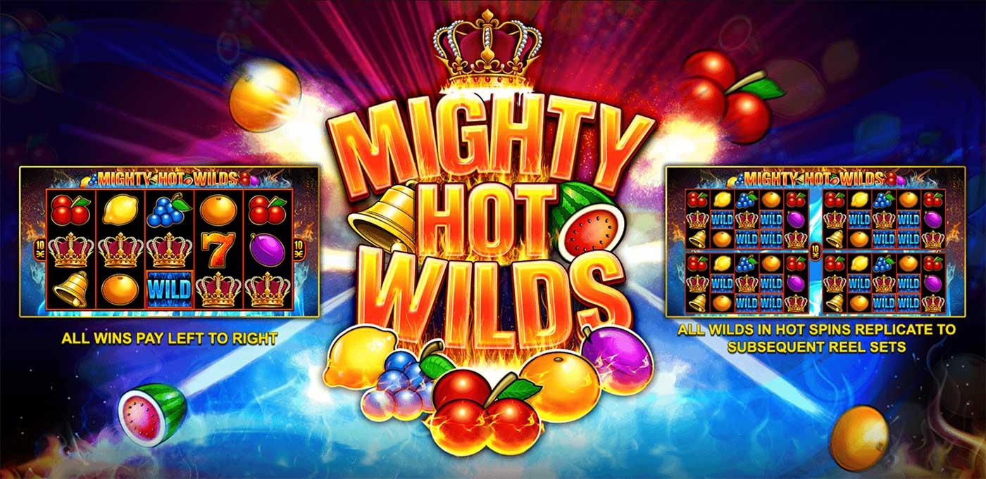 Might Hot Wilds Logo UK Slot