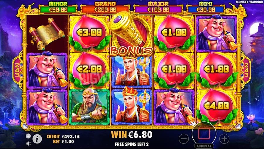 Monkey Warrior Gameplay Casino
