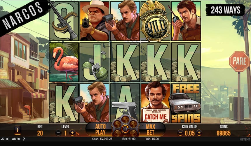 Narcos Casino Gameplay