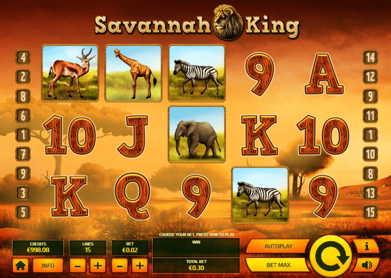 savannah king online bets
