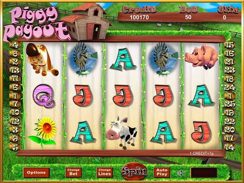 Gameplay from Piggy Payout Jackpot
