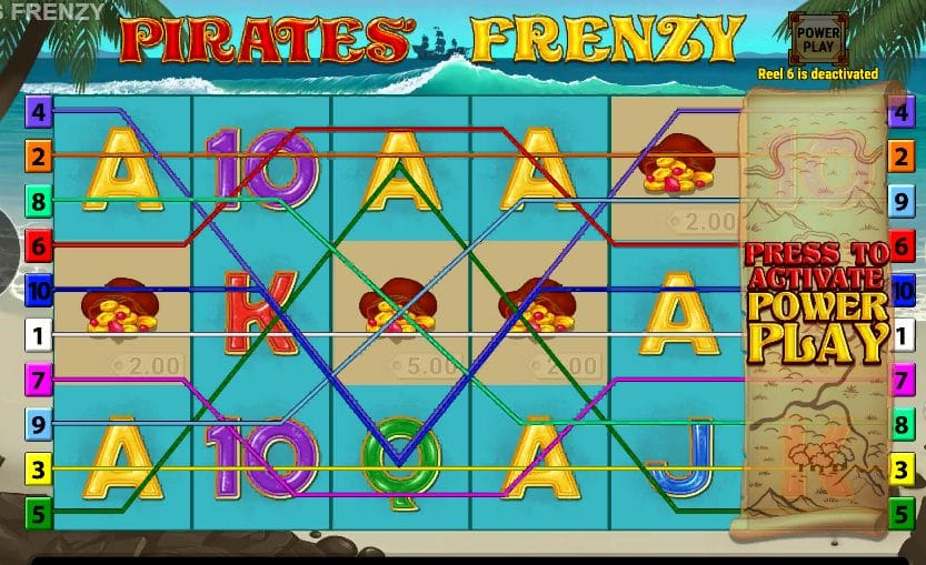 pirates frenzy slot machine barbados bingo