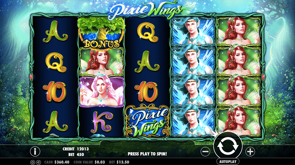 pixie wins slots win