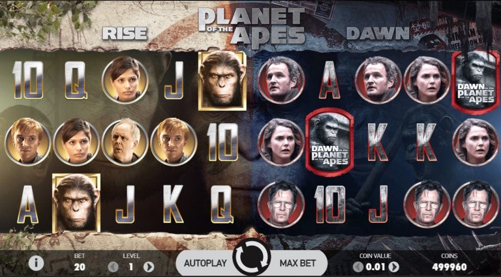 Planet of the Apes Casino Gameplay