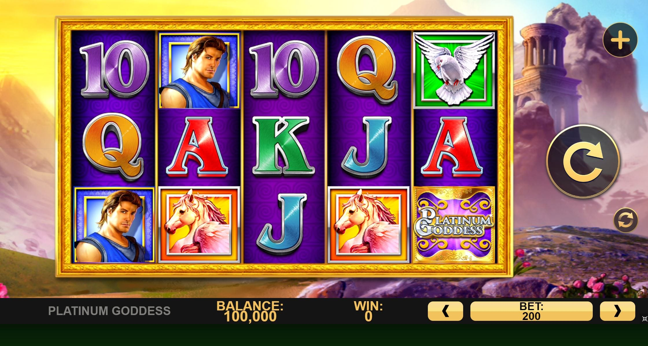 Platinum Goddess Online Slot Barbados Bingo