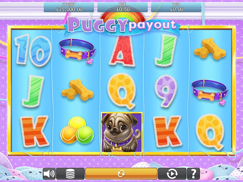 Gameplay from online slot Puggy Payout