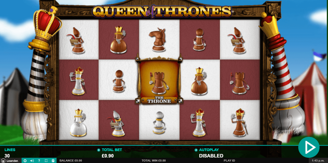 queen of thrones game spins