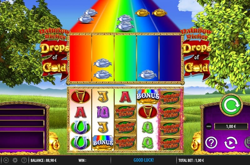 drops of gold rainbow riches play