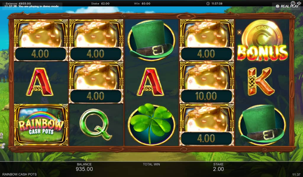 Rainbow Cash Pots Gameplay Casino