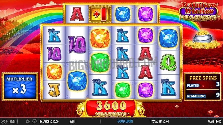 Raibow Riches Megaways Gameplay Casino