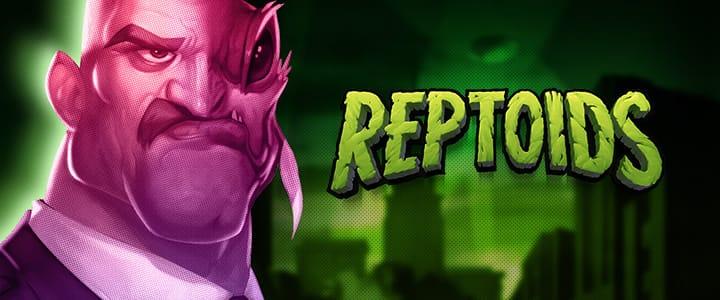 Reptoids slot game logo