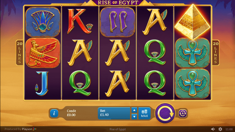 rise of egypt slots game