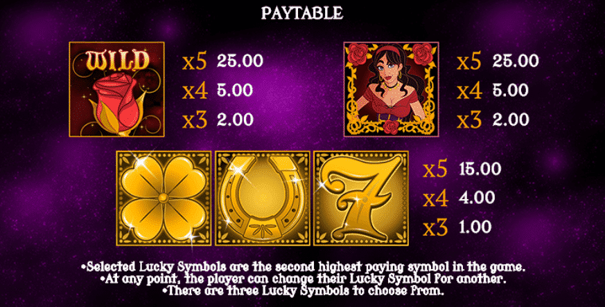 Rosellas Lucky Fortune slot screenshot