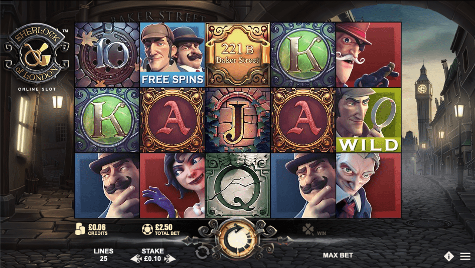 SHerlock of London Gameplay Casino