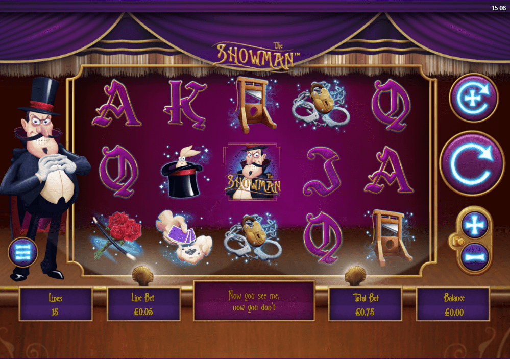 showman online casino game slots play