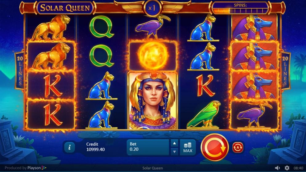 Solar Queen Gameplay Casino