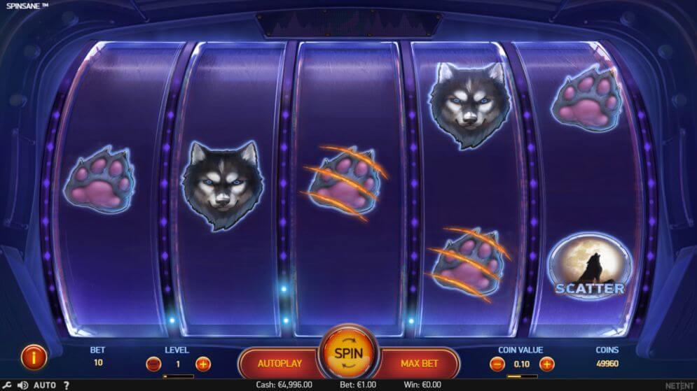 Spinsane slot game gameplay