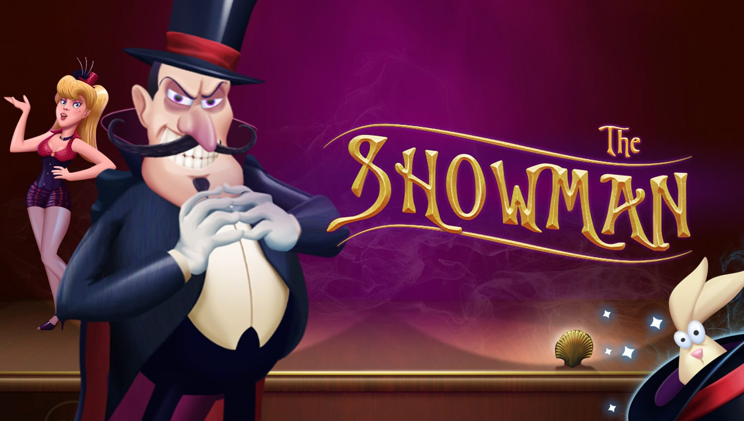 the showman casino online game logo