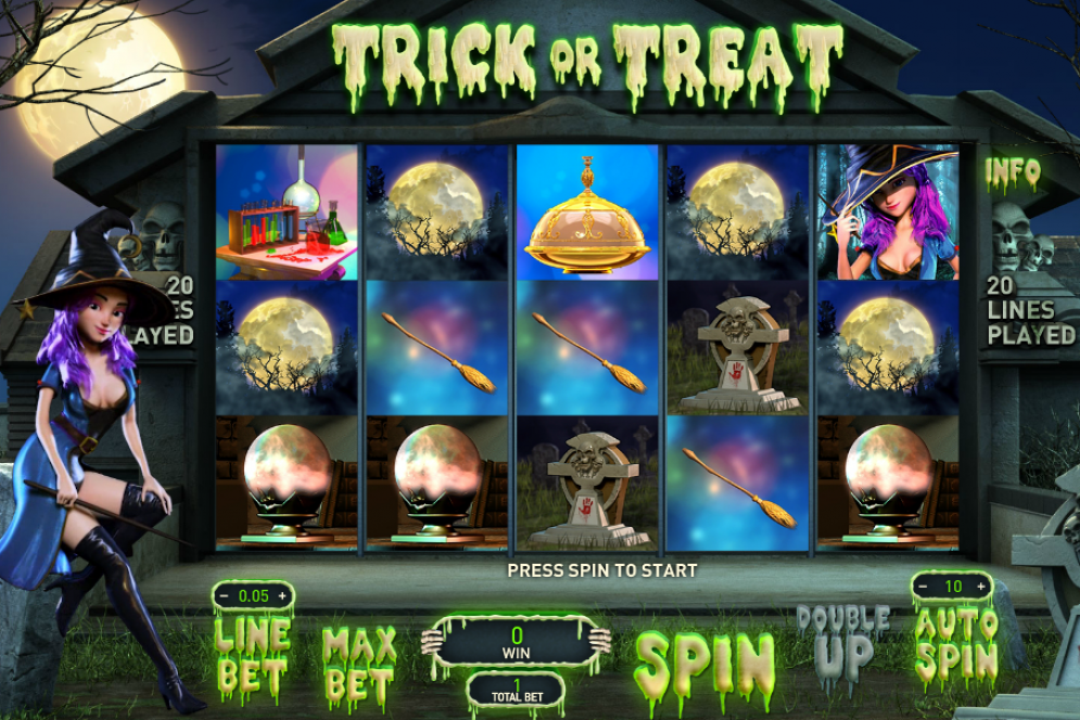 Trick or Treat slot gameplay