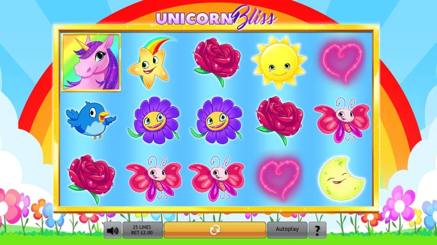 Unicorn Bliss Jackpot gameplay