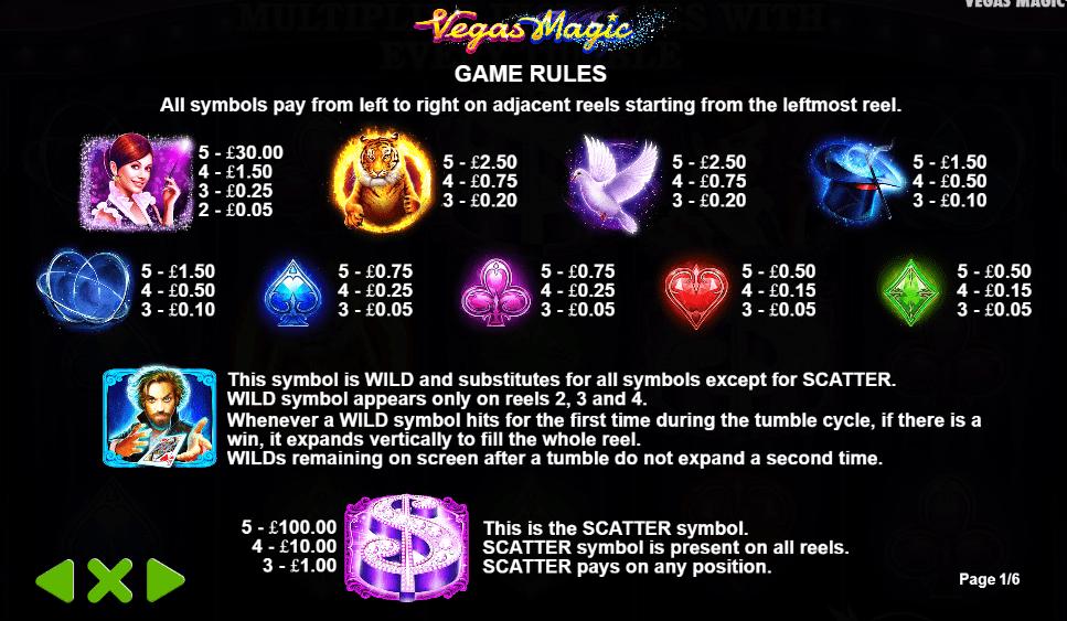 vegas magic rules game online slots