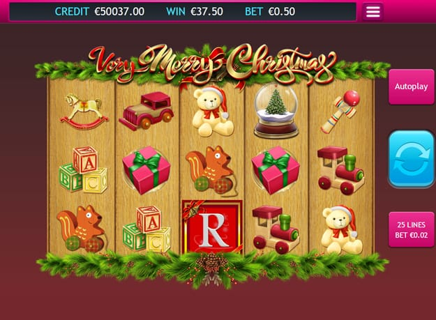Very Merry Christmas Jackpot gameplay
