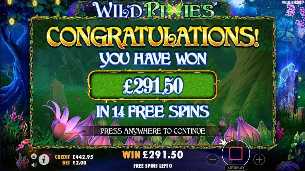 Wild Pixies Slot Win